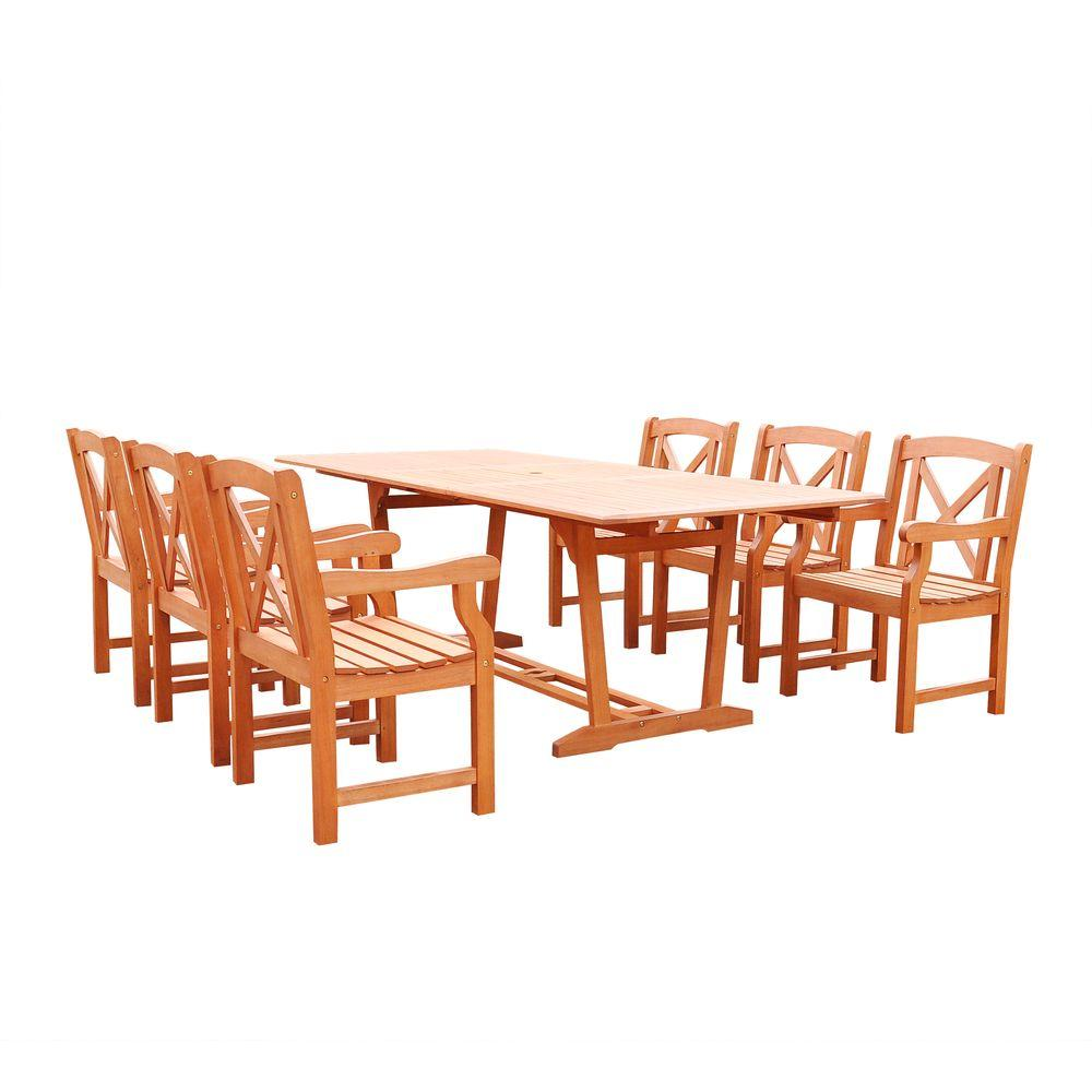 Vifah Malibu 7 Piece Rectangle Patio Dining Set V232set34