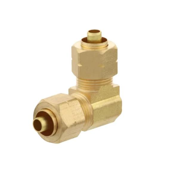 3/8 in. OD Compression 90-Degree Brass Elbow Fitting