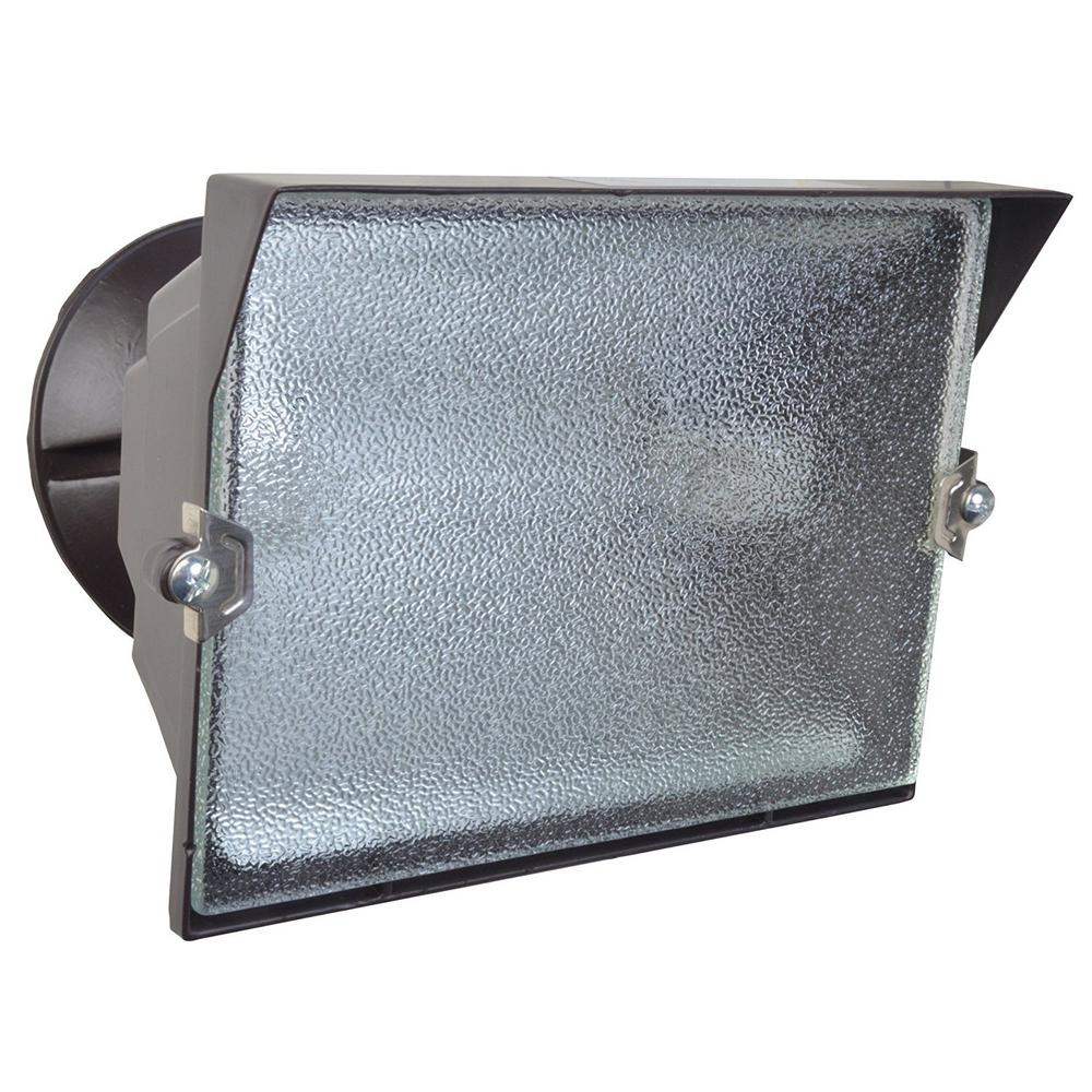 300-Watt Bronze Outdoor Security Flood Light with Halogen Bulb