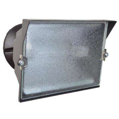 300-Watt Bronze Outdoor Landscape Flood Light with Halogen Bulb
