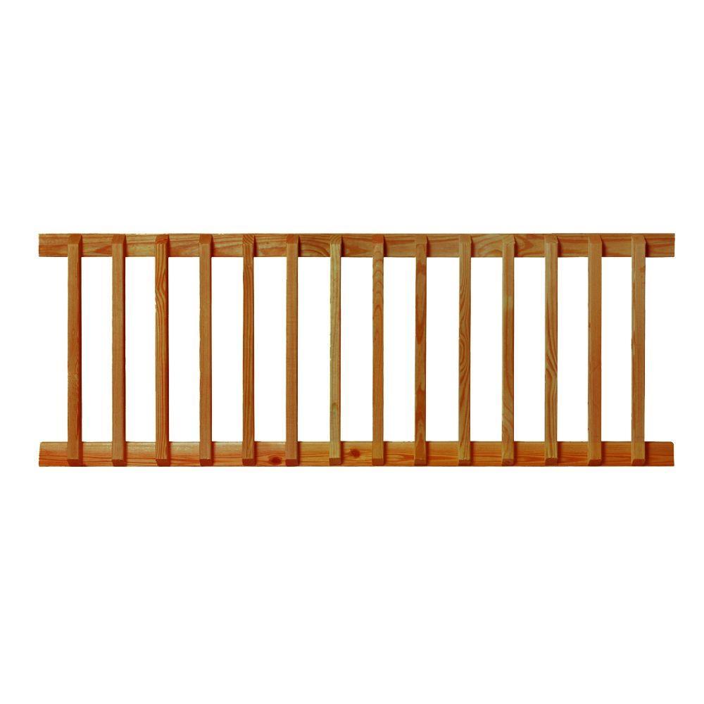 6 ft. Pre-Built Pressure-Treated Southern Pine Cedar-Tone Handrail