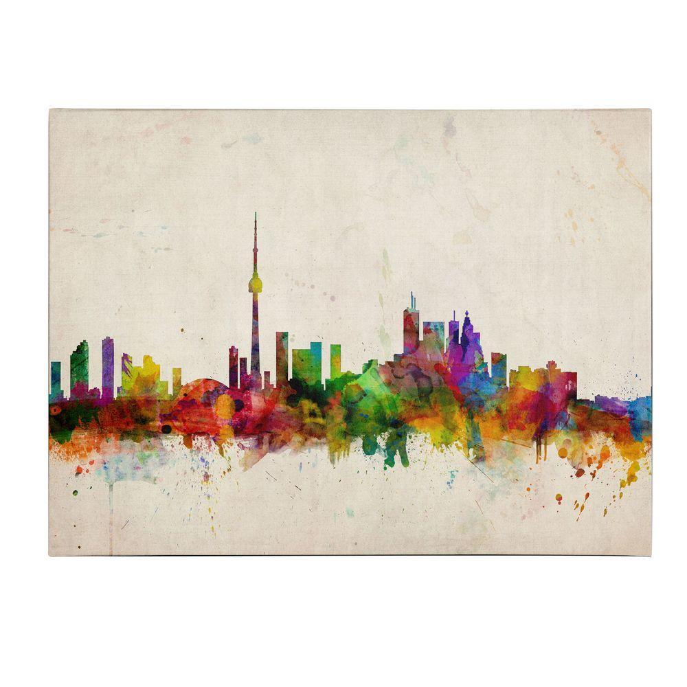 Trademark Fine Art 14 in. x 19 in. Toronto Skyline Canvas Art