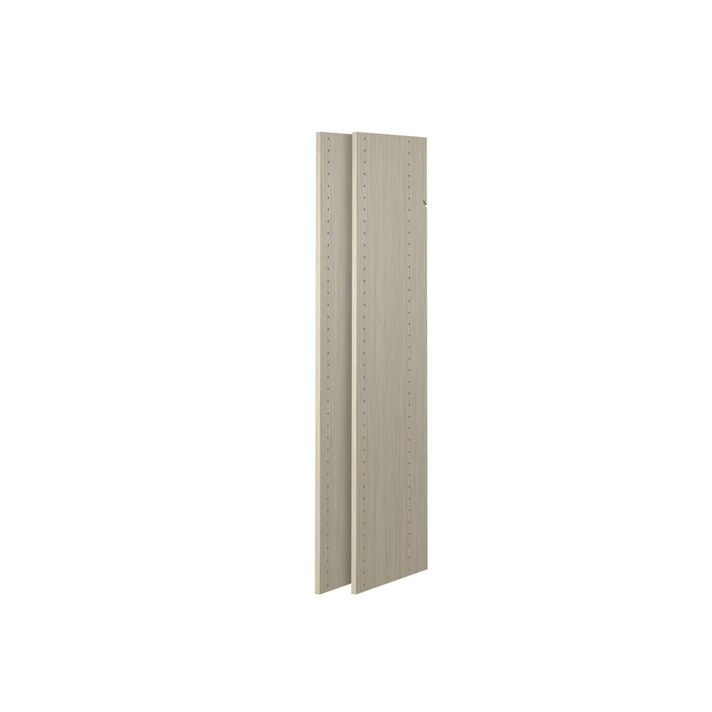 14 in. x 48 in. Rustic Grey Wood Vertical Panels (2-Pack)