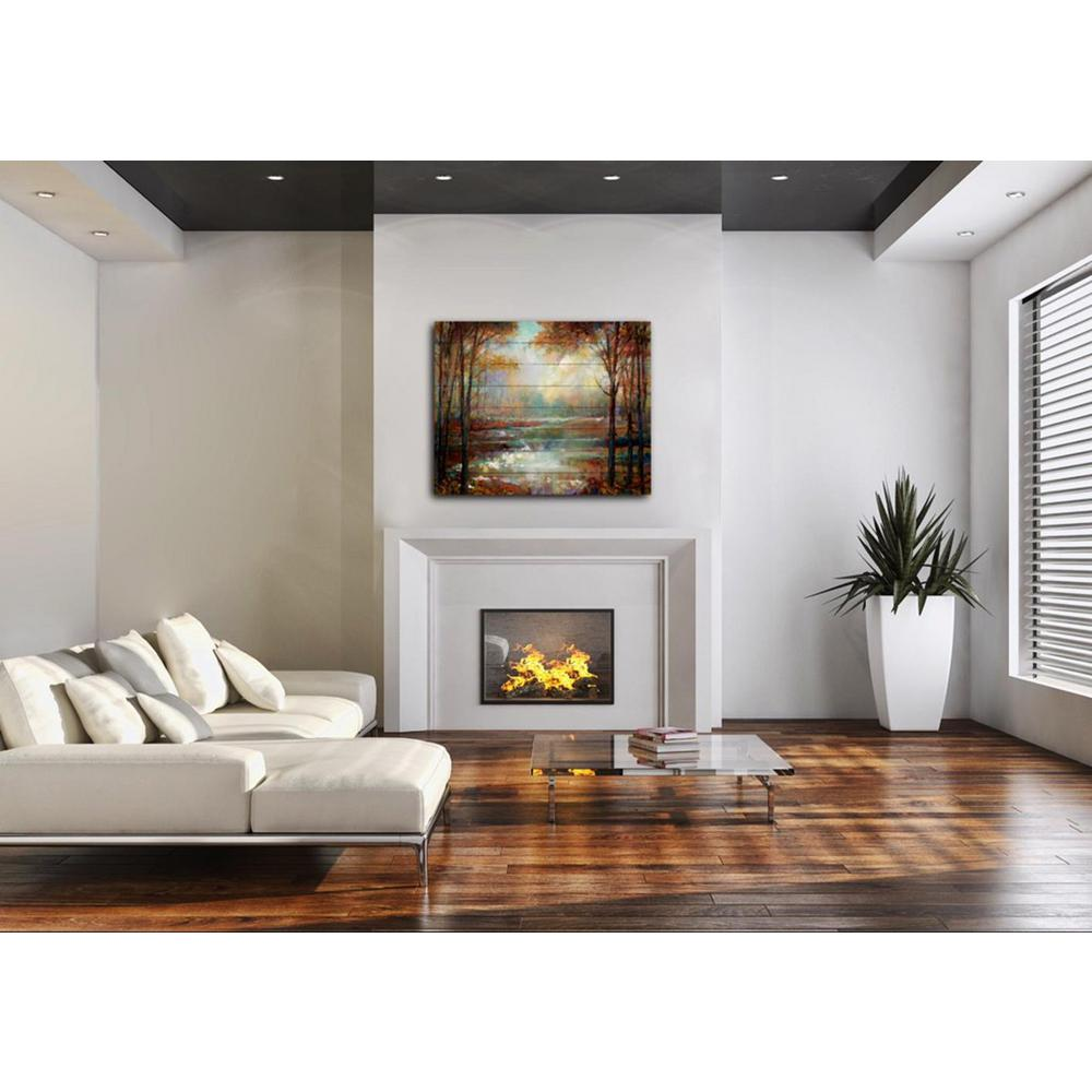 """36 in. x 24.5in. """"Magical Spring"""" Printed Wood Pallet Wall ..."""
