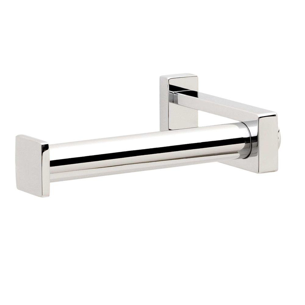 Frame Single Post Toilet Paper Holder in Polished Chrome