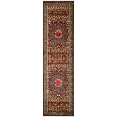 Mahal Navy/Red 2 ft. 2 in. x 18 ft. Runner