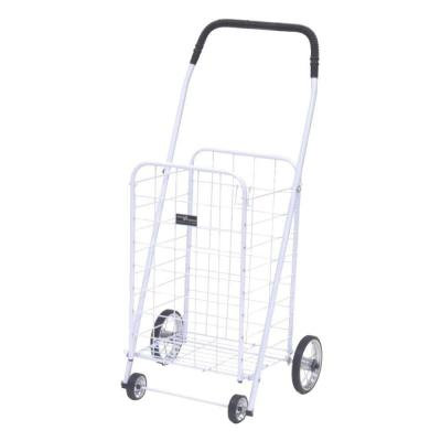 Mini Shopping Cart in White