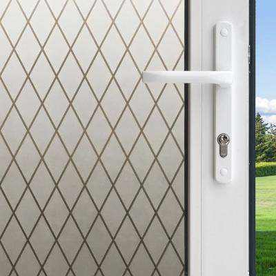 36 in. W x 78 in. H Privacy Control Frosted Lattice Window Film