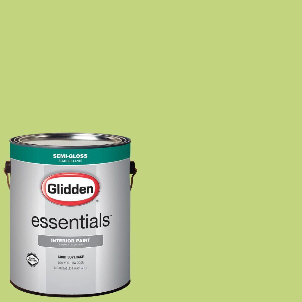 1 gal. #HDGG27 Spring Green Semi-Gloss Interior Paint