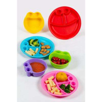 6-Piece Assorted Colors Plate and Bowl Set