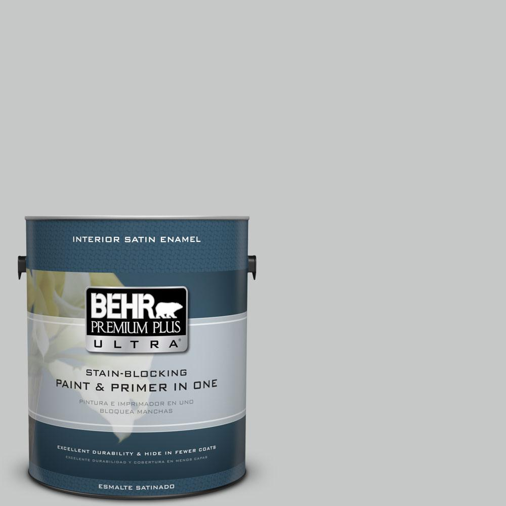 1-gal. #BNC-07 Frosted Silver Satin Enamel Interior Paint