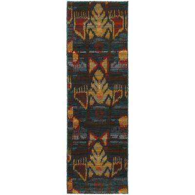 Cordoba Blue and Multi 2 ft. x 8 ft. Runner Rug