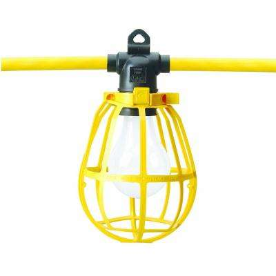 Coleman Cable Temporary Lighting 100 ft. Cord with 10-Light Sockets and Plastic Lamp Guards