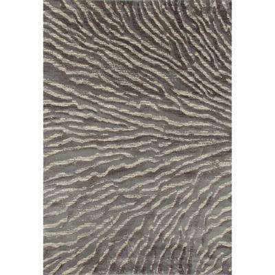 Troy Ripple Gray 2 ft. x 4 ft. Area Rug