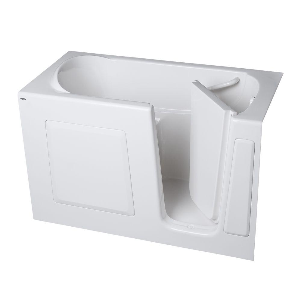 American Standard Gelcoat 4.25 ft. Walk-In Air Bath Tub with Right Hand Quick Drain and Extension Kit in White