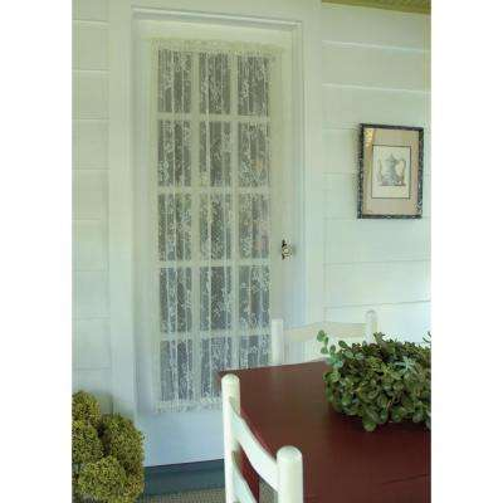 English Ivy Ecru Lace Door Panel