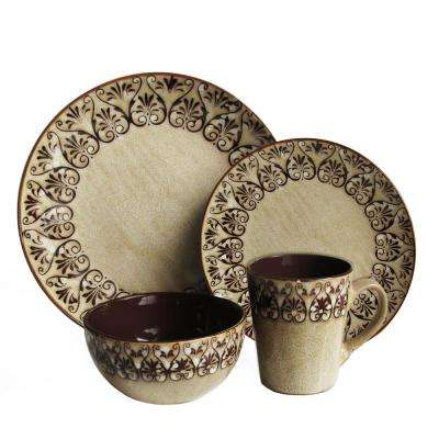16-Piece Mendhi Dinnerware Set