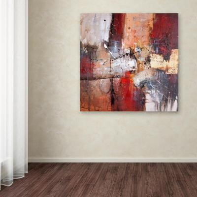 """35 in. x 35 in. """"Cube Abstract V"""" by Rio Printed Canvas Wall Art"""