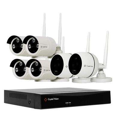 8-Channel Wireless 1080p Full HD 2MP 2TB Hard Drive Surveillance System with 2 Audio Cameras and 4 Standard Cameras