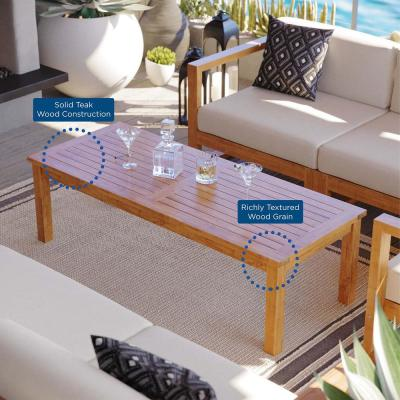 Upland Natural Teak Outdoor Coffee Table
