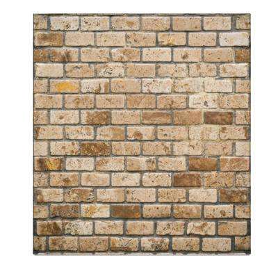 Falkirk Jura 3/10 in. x 28 in. x 30 in. Beige, Brown Faux Bricks PE Foam Peel-and-Stick Wall Panel