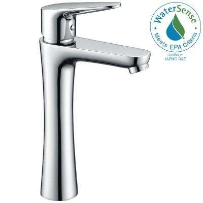 Vivace Single Hole Single-Handle Bathroom Faucet in Polished Chrome