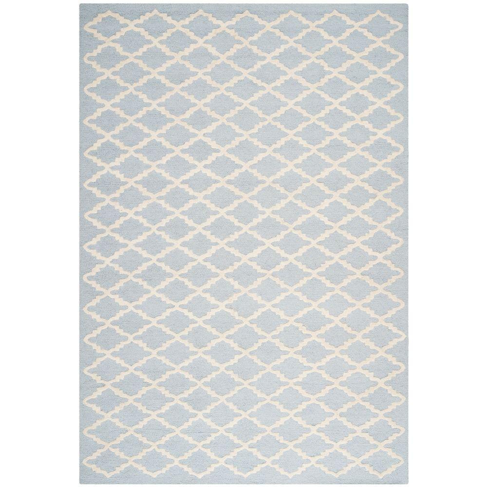 Cambridge Light Blue/Ivory 4 ft. x 6 ft. Area Rug