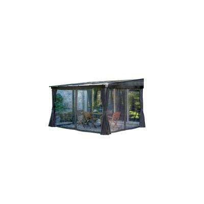 San Polo 10 ft. x 12 ft. x 8 ft. Mural Gazebo
