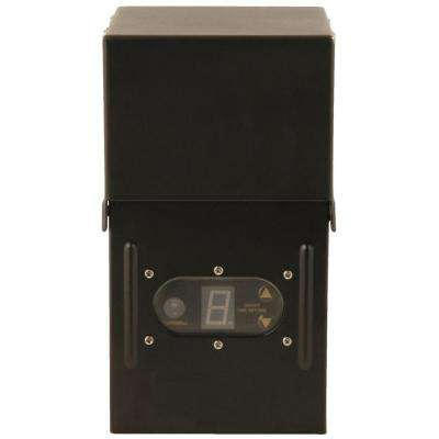 Power Pack Low-Voltage 300-Watt Black Outdoor Lighting Weather-Shield Transformer with Sensor and Metal Raintight Case