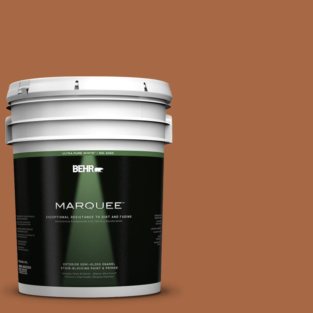 BEHR MARQUEE 5-gal. #PPU3-16 Maple Glaze Semi-Gloss Enamel Exterior Paint