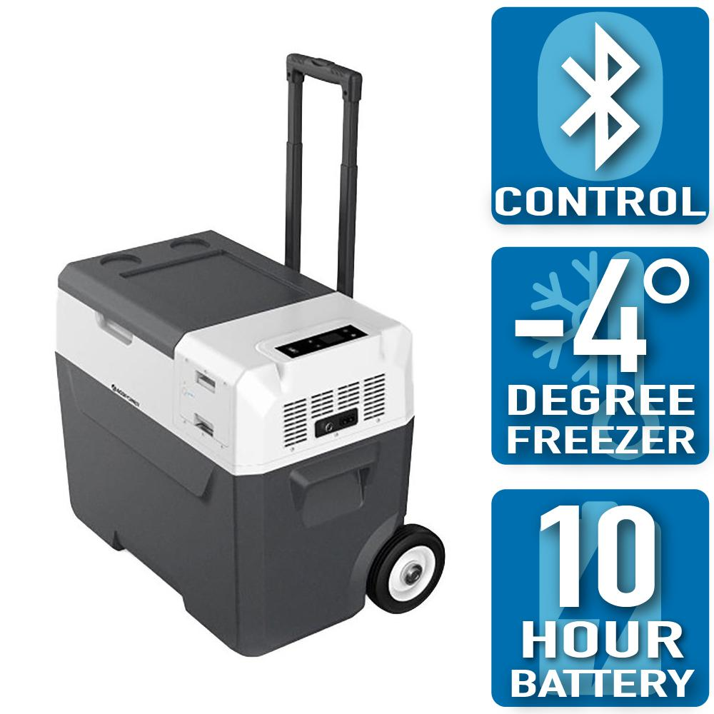 ACOPower ACOPower LiONCooler 42 Qt. Battery Powered Portable Chest Fridge Freezer Cooler w/10+ Hour Run Time, Recharge Using Solar/DC/AC, Gray/Black