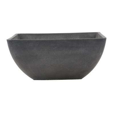 Simplicity Square 12 in. x 12 in. x 6 in. Dark Charcoal PSW Pot