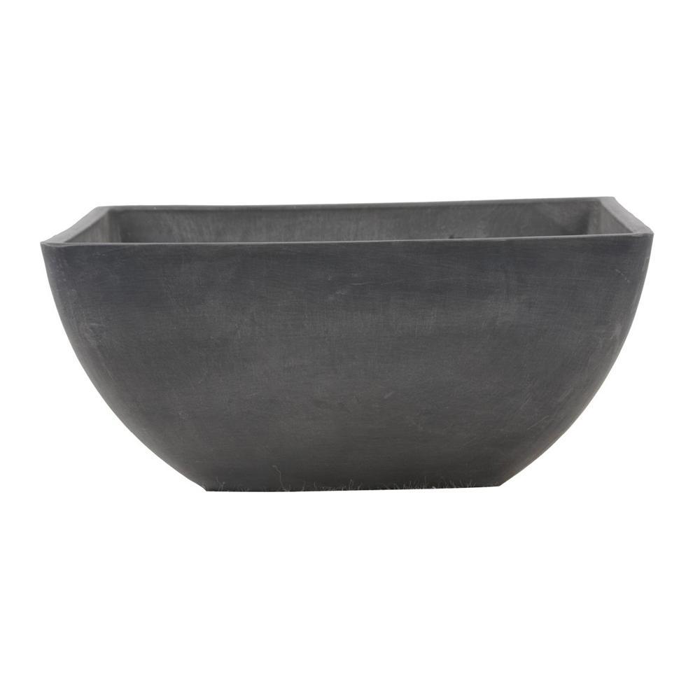 Simplicity Square 12 in. x 12 in. x 6 in. Dark Charcoal PSW Pot