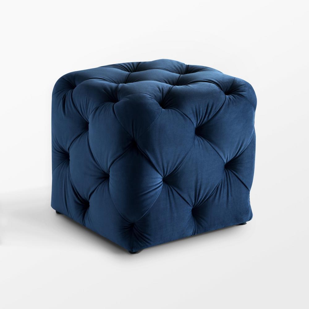Cool Inspired Home Genevieve Navy Cube Tufted Upholstered Velvet Short Links Chair Design For Home Short Linksinfo