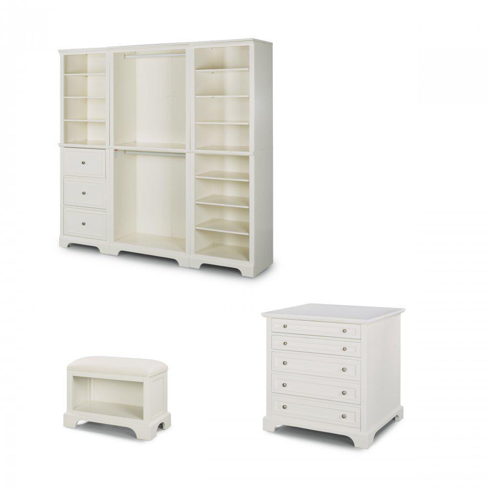 Home Styles Naples White Armoire 5530-7522