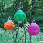 Lumabase Battery Operated Paper Lantern in Fuchsia (3-Count)