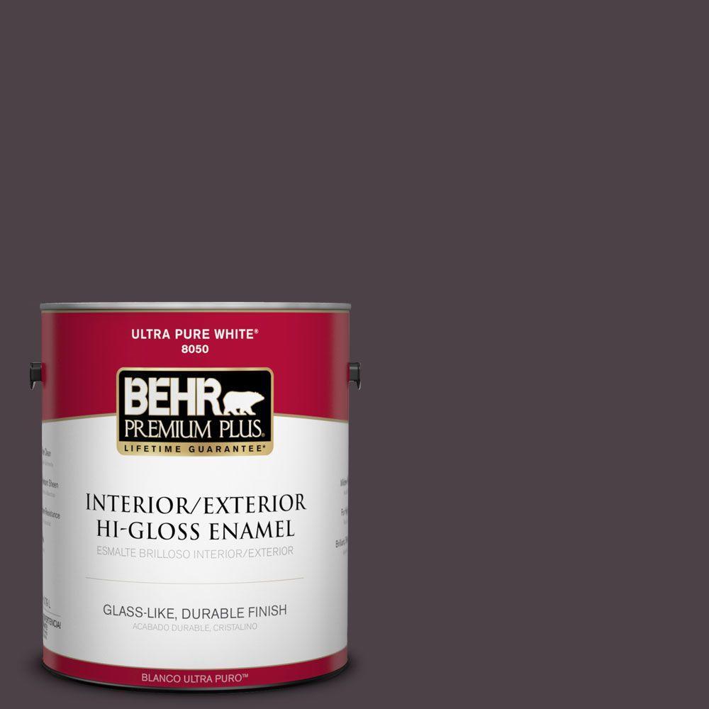 1-gal. #BXC-09 Dark Burgundy Wine Hi-Gloss Enamel Interior/Exterior Paint