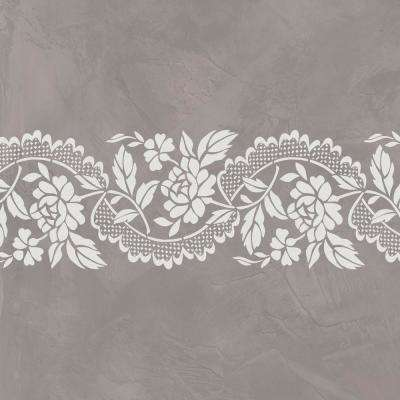 Small Roses and Lace Wall Stencil by Jeff Raum