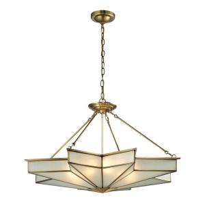 Vitruvius Collection 8-Light Brushed Brass Pendant