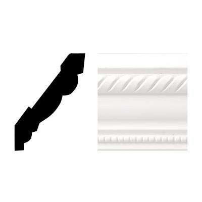 Creations 6611 11/16 in. x 3-5/8 in. x 8 ft. PVC Composite White Crown Moulding