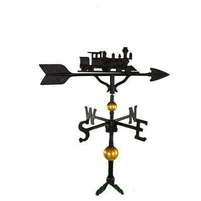 32 in. Deluxe Black Train Weathervane