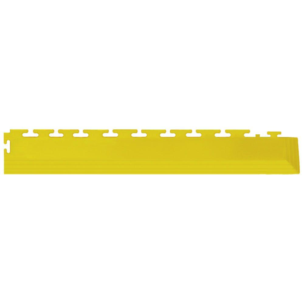 IT-tile Coin 2-1/2 in. x 23 in. Yellow Vinyl Tapered Interlocking Flooring Corners (7 sq. ft./case)