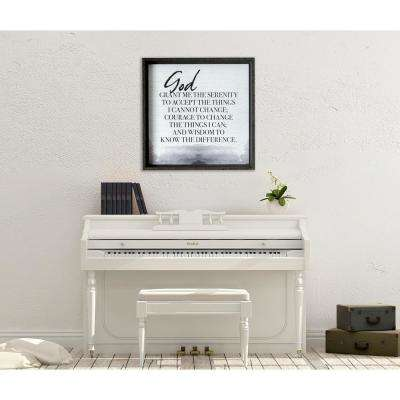 "26.5 in. W x 26.5 in. H ""God Grant Me the Serenity"" by KDM Frame Wall Art"