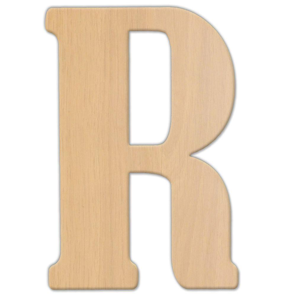 Jeff McWilliams Designs 23 in. Oversized Unfinished Wood Letter ( R ...