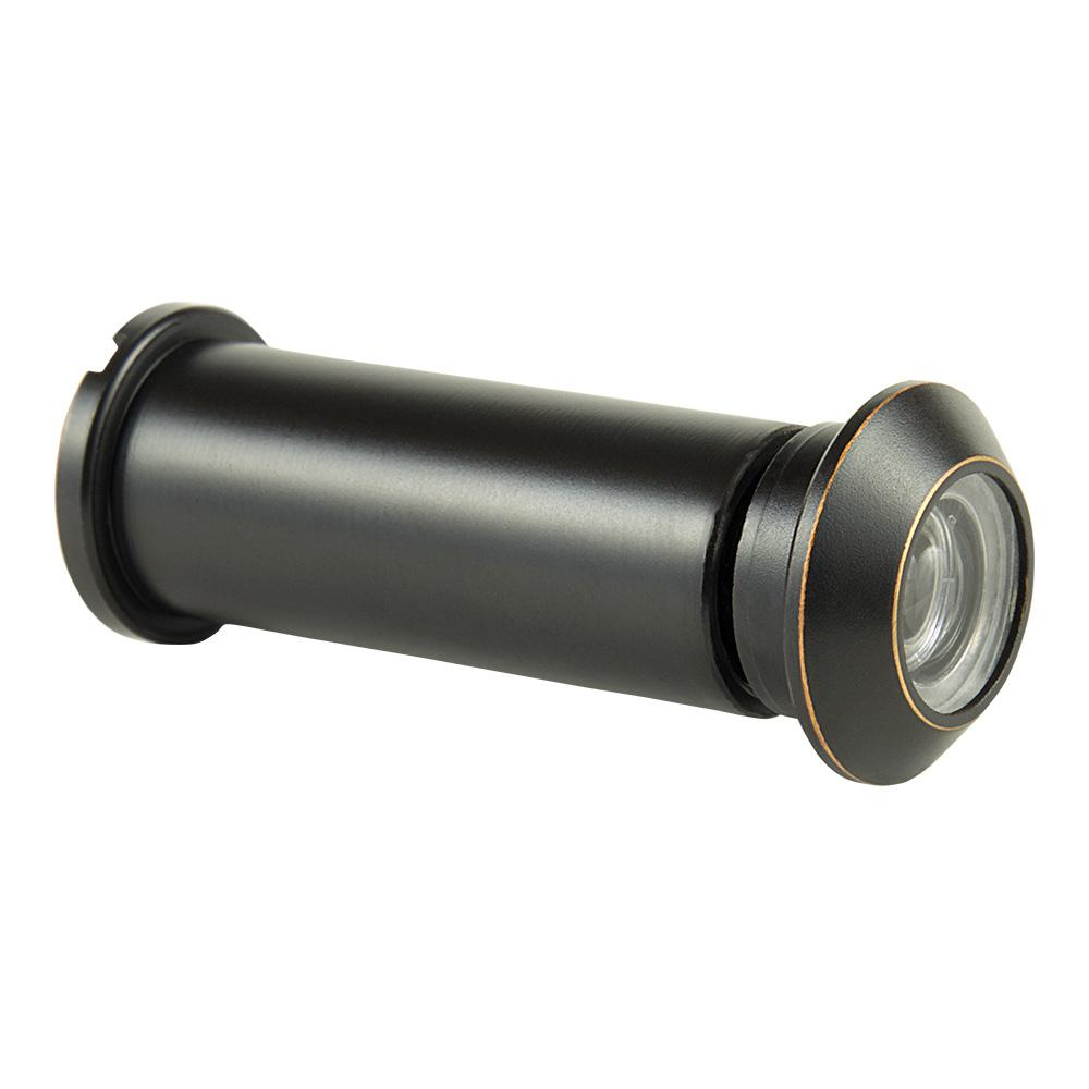 160° Oil Rubbed Bronze Door Viewer with Acrylic Lenses