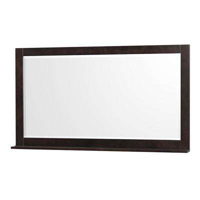 Centra 58 in. W x 33 in. H Framed Wall Mirror in Espresso