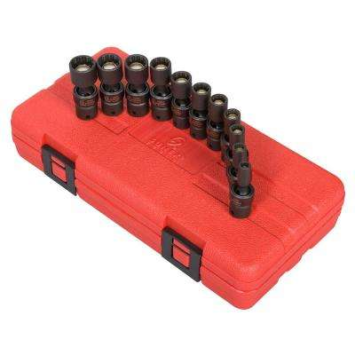 1/4 in. Drive Universal Magnetic Impact Socket Set (11-Piece)