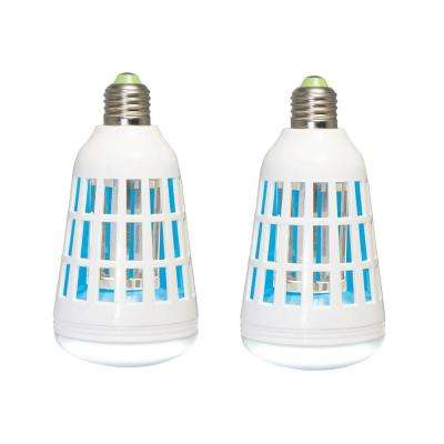 75-Watt Equivalent A19 2-in-1 LED Light Bulb and Bug Zapper (2 pack)