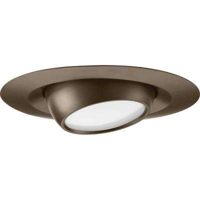 6 in. Antique Bronze Integrated LED Recessed Trim