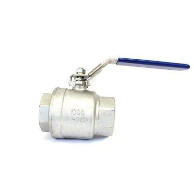 1/2 in. Stainless Steel FIP x FIP Threaded Full-Port Ball Valve (10-Pack)